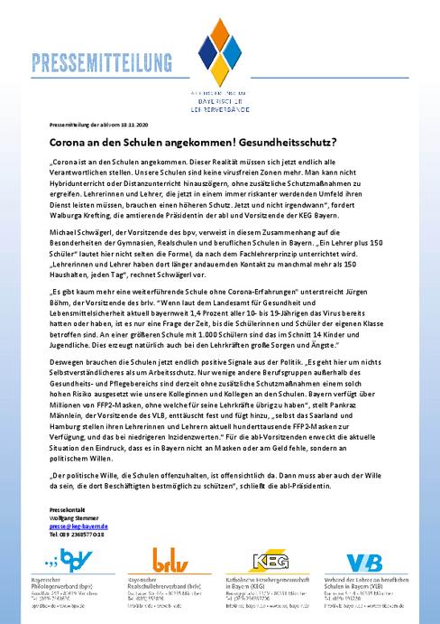 Presseinformationen Verband Der Lehrer An Beruflichen Schulen In Bayern E V Vlb